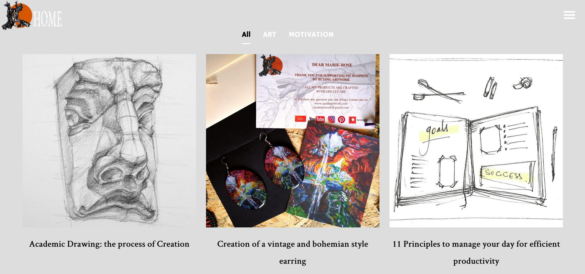 Blog Image on Website